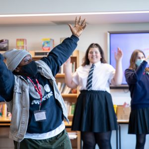 Hopes and Dreams dancer in a class room